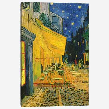 Café Terrace, Place du Forum, Arles, 1888 Canvas Print #BMN6429} by Vincent van Gogh Canvas Print
