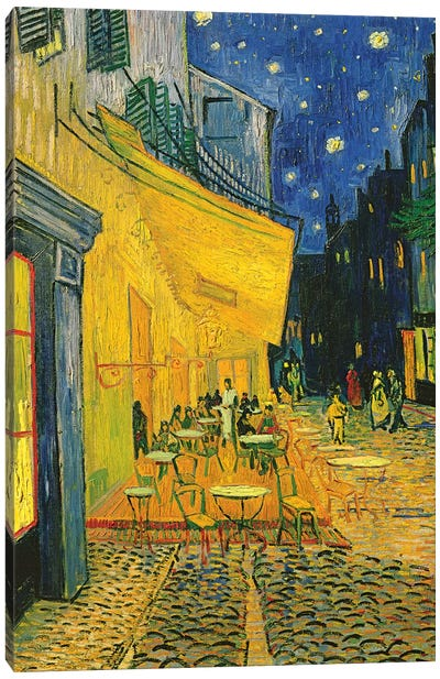 Café Terrace, Place du Forum, Arles, 1888 Canvas Art Print