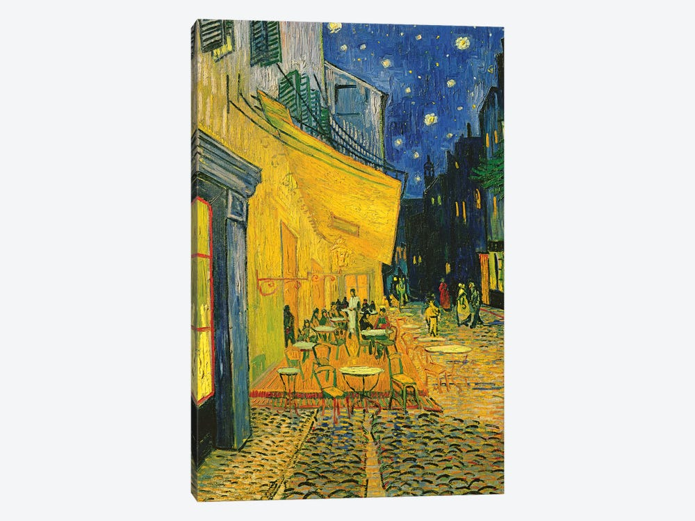 Café Terrace, Place du Forum, Arles, 1888 by Vincent van Gogh 1-piece Art Print