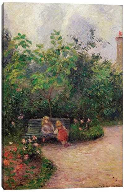 A Corner of the Garden at the Hermitage, Pontoise, 1877  Canvas Art Print