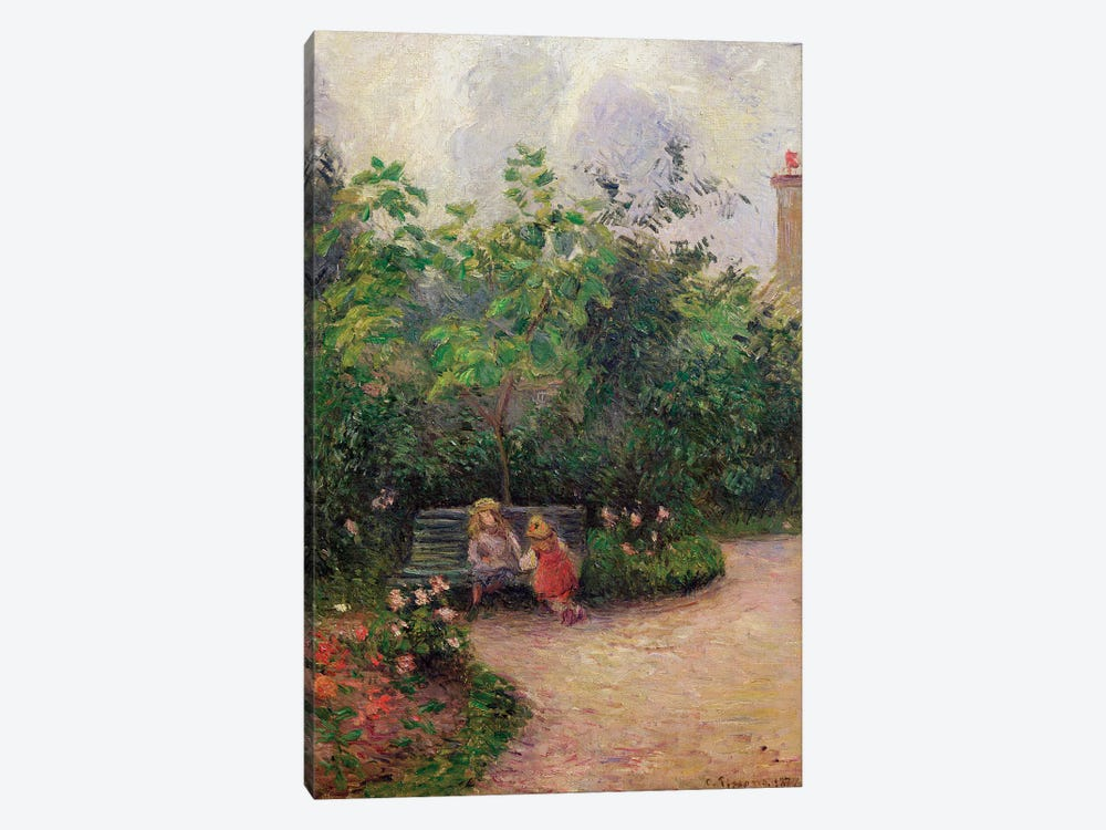 A Corner of the Garden at the Hermitage, Pontoise, 1877  by Camille Pissarro 1-piece Art Print
