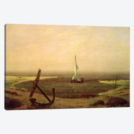 Evening Canvas Print #BMN6433} by Caspar David Friedrich Canvas Wall Art