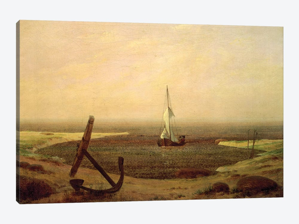 Evening by Caspar David Friedrich 1-piece Canvas Artwork
