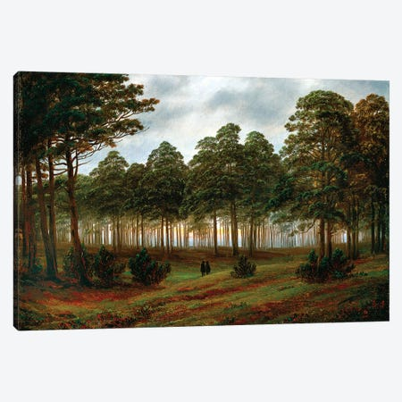 Evening, 1820-26 Canvas Print #BMN6434} by Caspar David Friedrich Canvas Print