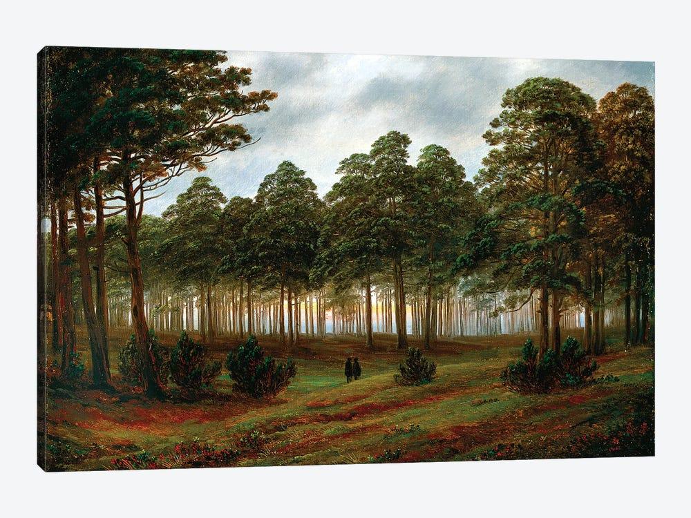 Evening, 1820-26 by Caspar David Friedrich 1-piece Canvas Print