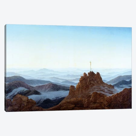 Morning In The Riesengebirge, 1810-11 Canvas Print #BMN6435} by Caspar David Friedrich Art Print