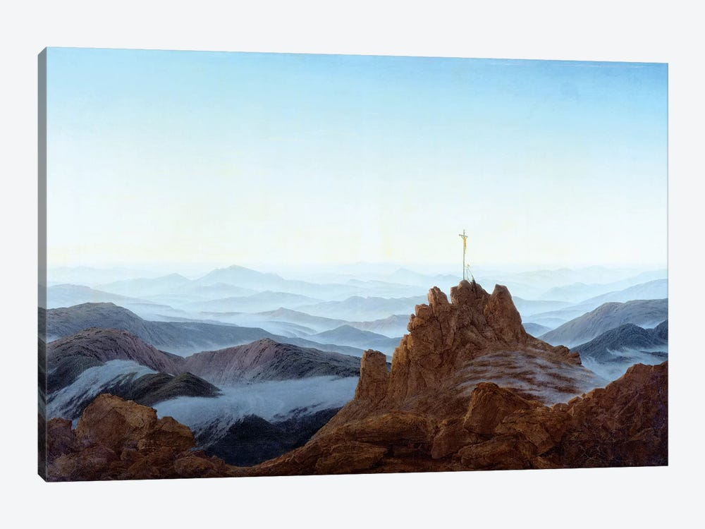 Morning In The Riesengebirge, 1810-11 by Caspar David Friedrich 1-piece Canvas Wall Art