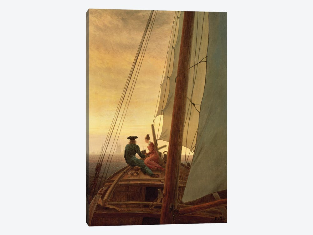 On Board A Sailing Ship, 1819 by Caspar David Friedrich 1-piece Canvas Art Print