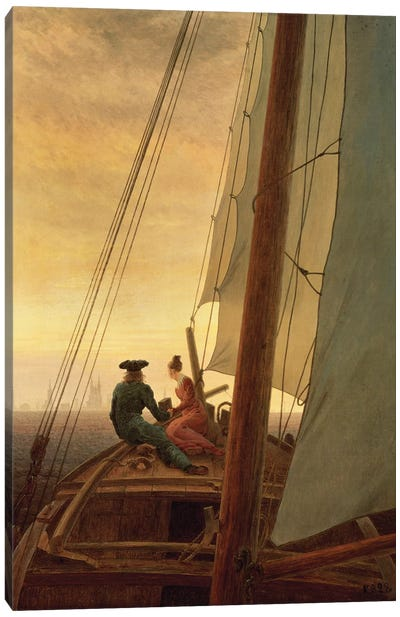 On Board A Sailing Ship, 1819 Canvas Art Print