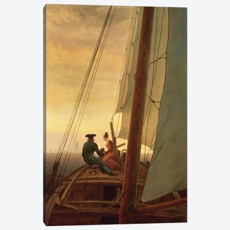 On Board A Sailing Ship, 1819 Canvas Print #BMN6436} by Caspar David Friedrich Art Print
