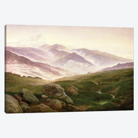 Reisenberg, The Mountains Of The Giants, 1839 Canvas Print #BMN6437} by Caspar David Friedrich Canvas Print