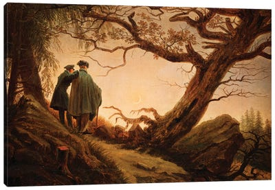 Two Men In The Consideration Of The Moon, c.1830 Canvas Art Print