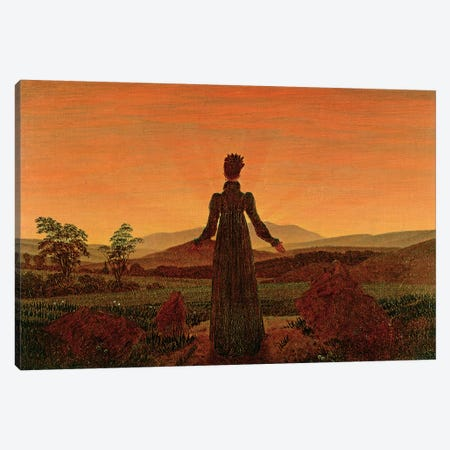 Woman At Dawn Canvas Print #BMN6441} by Caspar David Friedrich Art Print