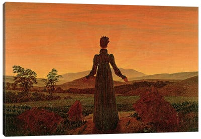 Woman At Dawn Canvas Art Print
