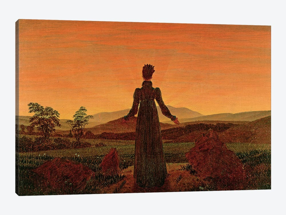 Woman At Dawn by Caspar David Friedrich 1-piece Canvas Art Print