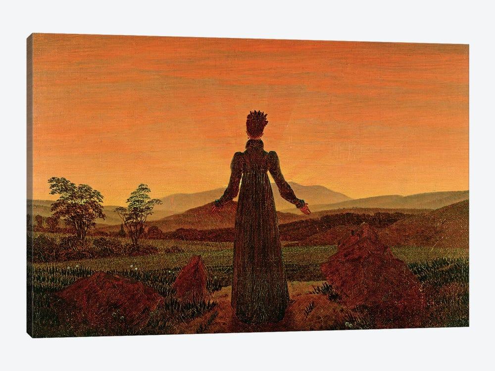 Woman At Dawn by Caspar David Friedrich 1-piece Canvas Art Print