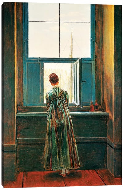 Woman At Window Canvas Art Print