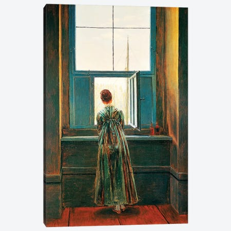 Woman At Window Canvas Print #BMN6442} by Caspar David Friedrich Canvas Print