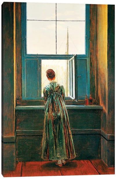 Woman At Window Canvas Art Print