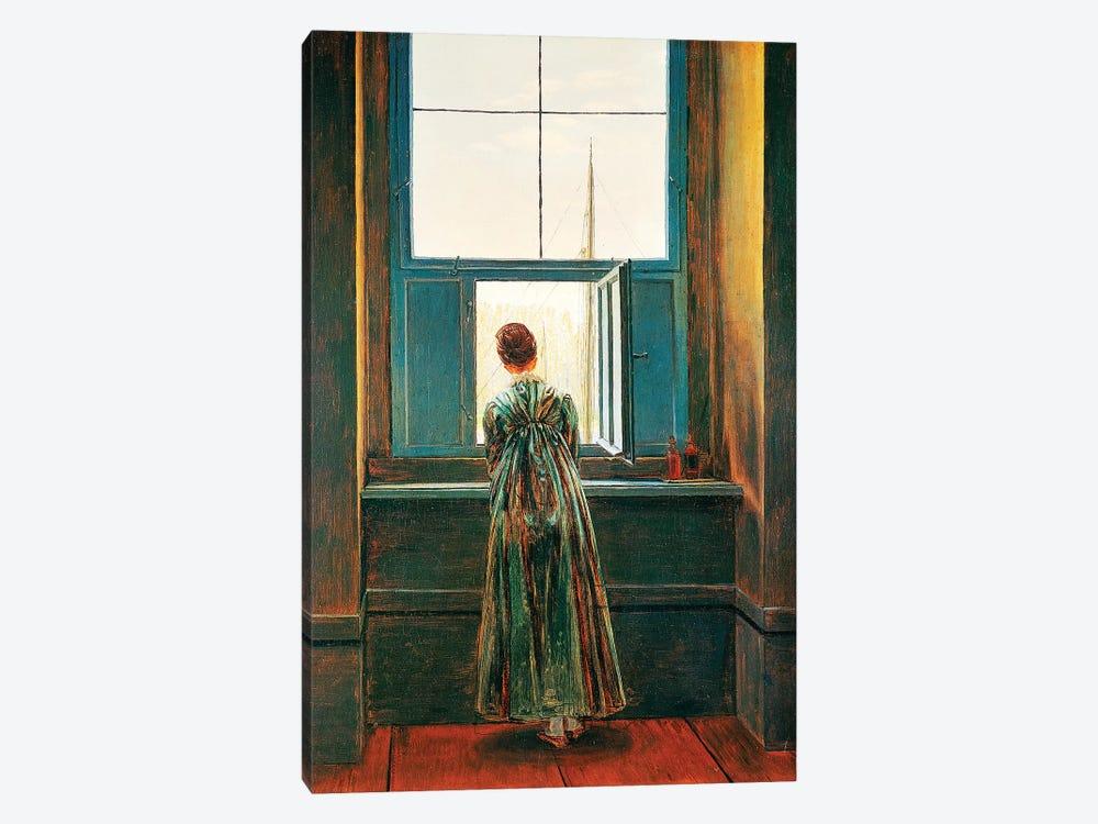 Woman At Window by Caspar David Friedrich 1-piece Canvas Wall Art