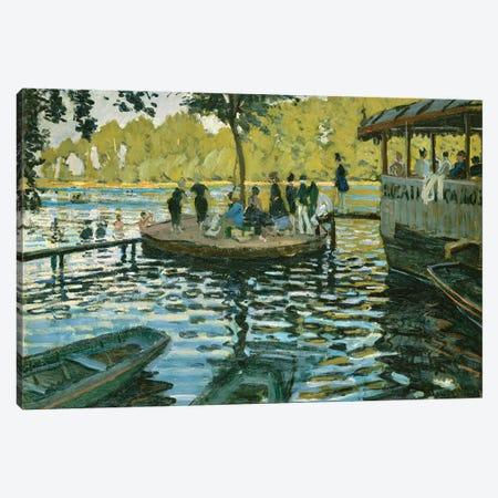 La Grenouillere, 1869 Canvas Print #BMN6444} by Claude Monet Canvas Art