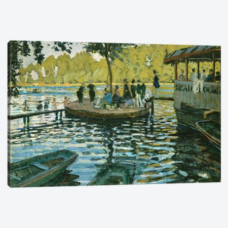 La Grenouillere, 1869 3-Piece Canvas #BMN6444} by Claude Monet Canvas Art