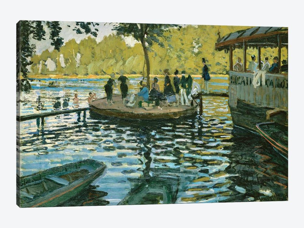 La Grenouillere, 1869 by Claude Monet 1-piece Canvas Art