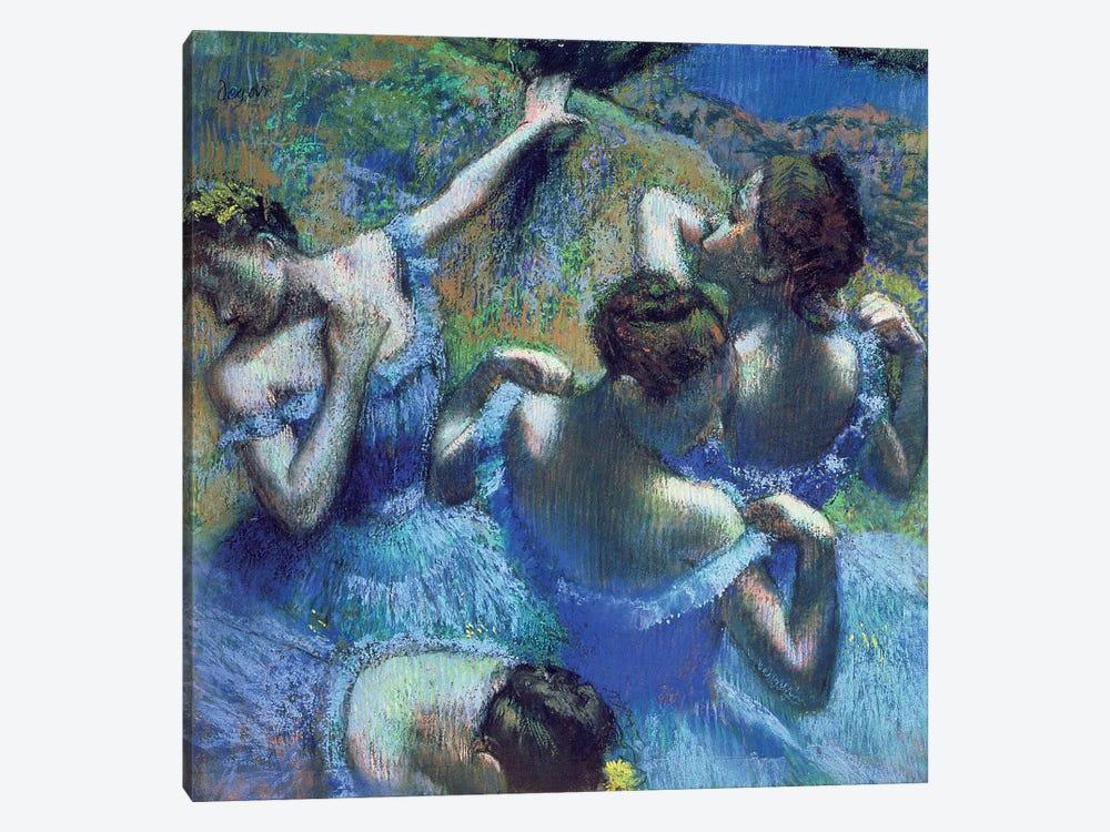 Blue Dancers, c.1899 by Edgar Degas 1-piece Canvas Print