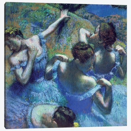 Blue Dancers, c.1899 Canvas Print #BMN6445} by Edgar Degas Canvas Art