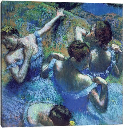 Blue Dancers, c.1899 Canvas Art Print