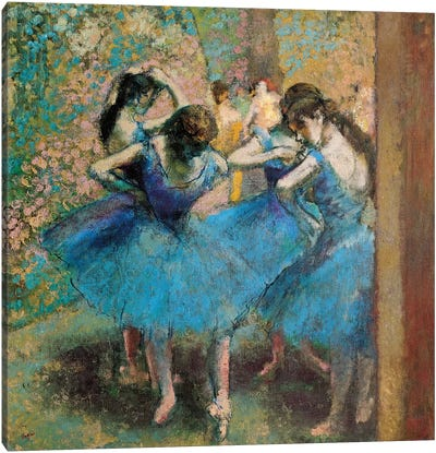 Dancers In Blue, 1890 Canvas Art Print