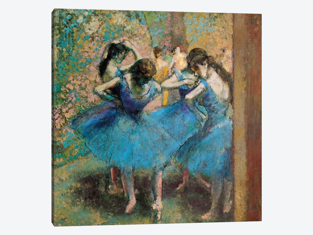 Dancers In Blue, 1890 by Edgar Degas 1-piece Canvas Artwork