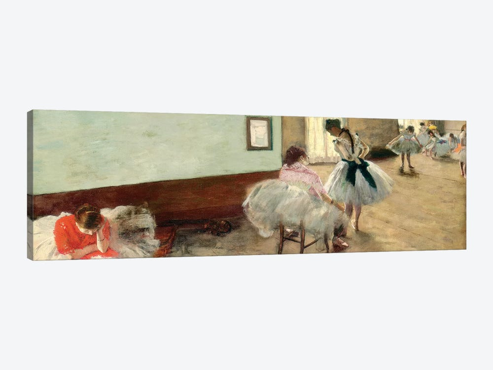 The Dance Lesson, c.1879 by Edgar Degas 1-piece Canvas Artwork