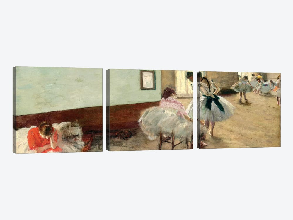 The Dance Lesson, c.1879 by Edgar Degas 3-piece Canvas Art