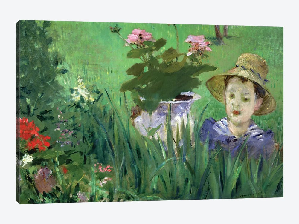 Child In The Flowers (Jacques Hoschede), 1876 by Edouard Manet 1-piece Canvas Art Print