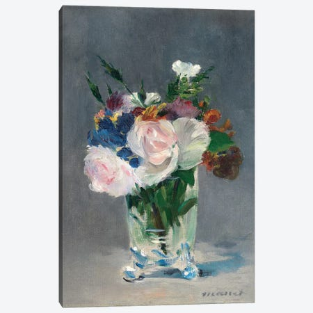 Flowers In A Crystal Vase, c.1882 Canvas Print #BMN6451} by Edouard Manet Canvas Artwork
