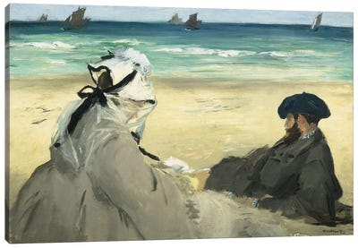 On The Beach, 1873 Canvas Art Print