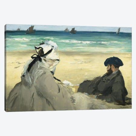 On The Beach, 1873 Canvas Print #BMN6453} by Edouard Manet Canvas Art