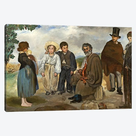 The Old Musician, 1862 Canvas Print #BMN6454} by Edouard Manet Art Print