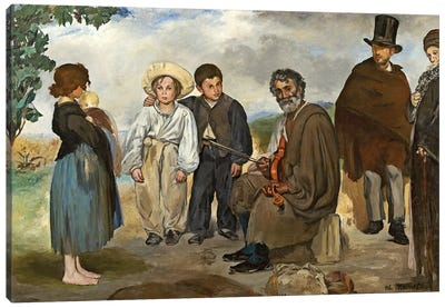 The Old Musician, 1862 Canvas Art Print
