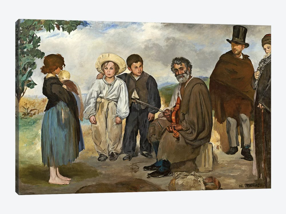 The Old Musician, 1862 by Edouard Manet 1-piece Canvas Print