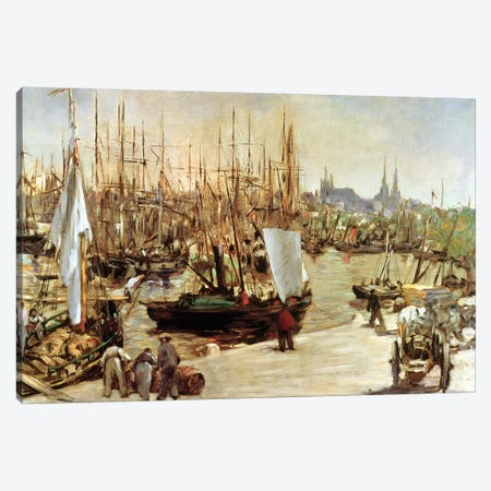 The Port Of Bordeaux, 1871 Canvas Print #BMN6455} by Edouard Manet Art Print