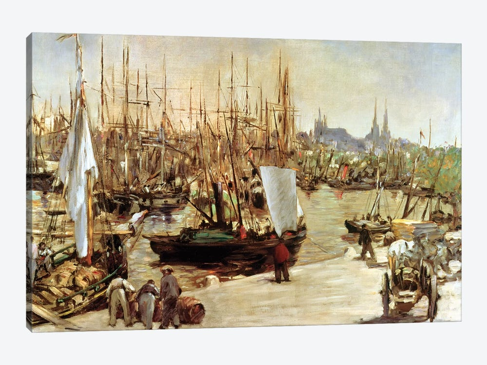 The Port Of Bordeaux, 1871 by Edouard Manet 1-piece Canvas Wall Art