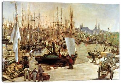The Port Of Bordeaux, 1871 Canvas Art Print