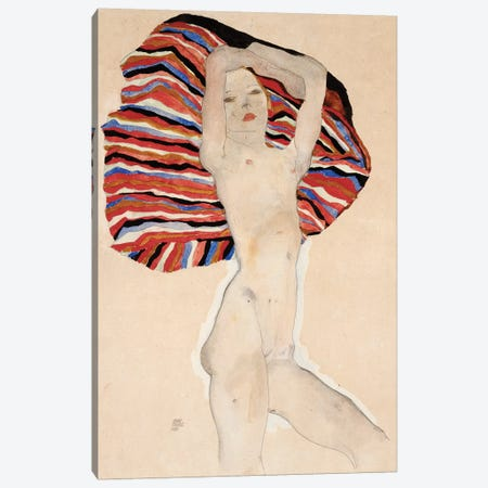 Act Against Coloured Material, 1911 Canvas Print #BMN6457} by Egon Schiele Canvas Art Print