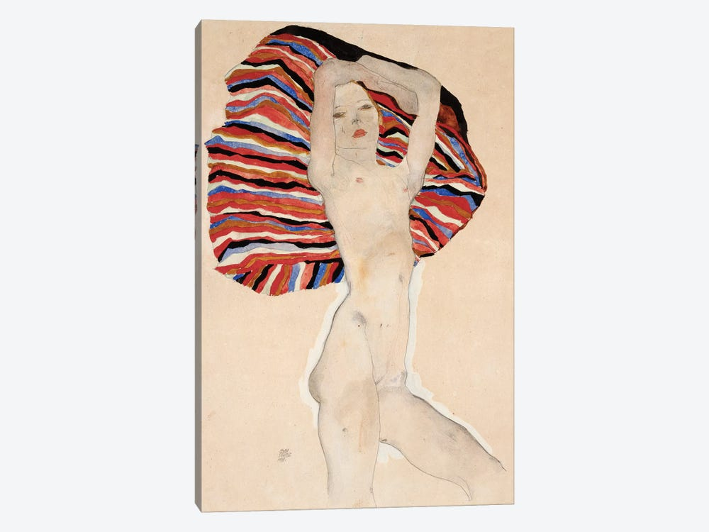 Act Against Coloured Material, 1911 by Egon Schiele 1-piece Canvas Artwork