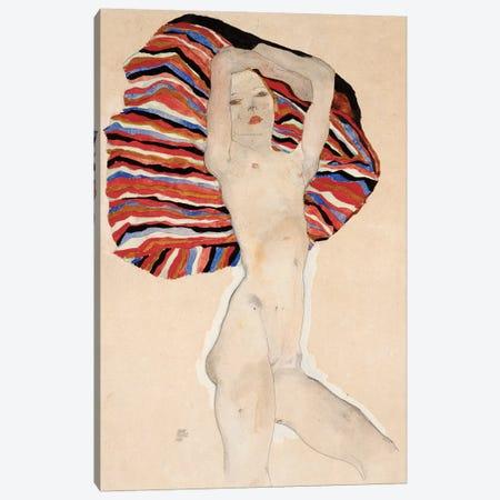Act Against Coloured Material, 1911 Canvas Print #BMN6457} by Egon Schiele Canvas Art Print