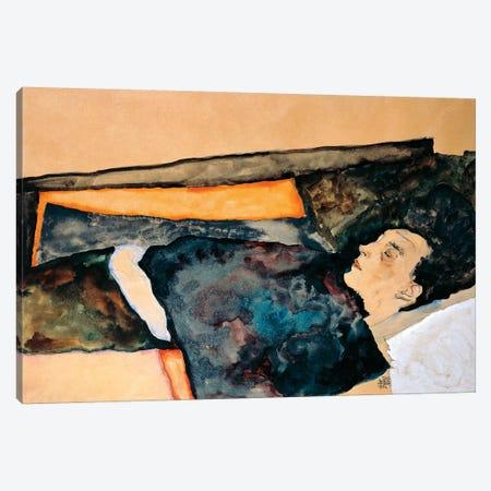 Artist's Mother Sleeping Canvas Print #BMN6458} by Egon Schiele Canvas Wall Art