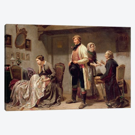 A toast to the engaged couple  Canvas Print #BMN645} by Carl Wilhelm Huebner Canvas Art Print