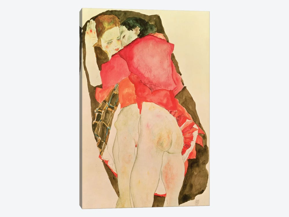 Lovers, 1911 by Egon Schiele 1-piece Art Print
